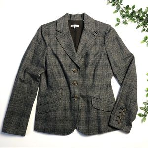 Vince Virgin Wool Plaid Blazer